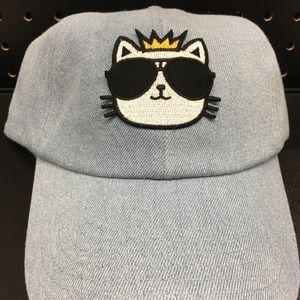 Karl Largerfeld King Choupette Denim cap